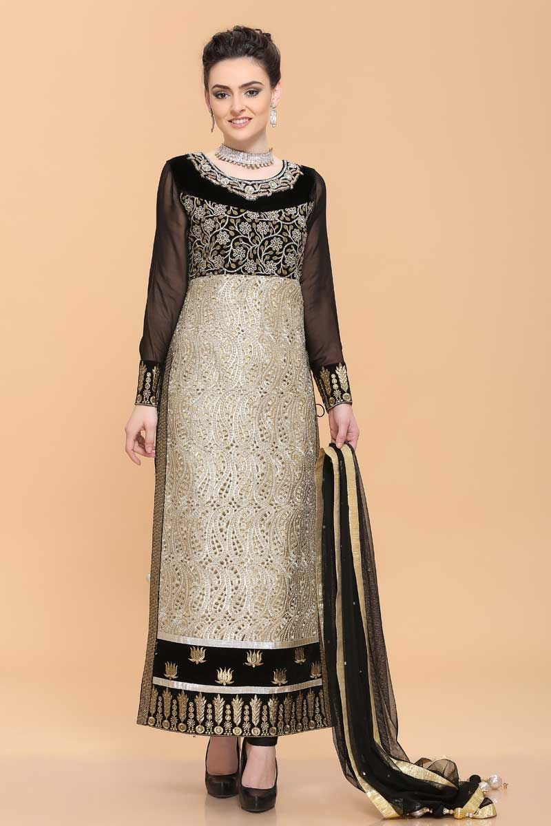 19c023ea73e970 Andaaz Fashion - Shop the new arrival Embroidred Churidar Suit, Girls and  Womens clothes are now in store.