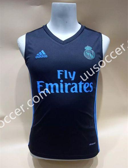 best service 872f9 e0f96 2017-18 Real Madrid Dark Blue Thailand Soccer Vest AAA ...