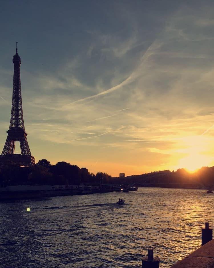 Couché de soleil paris #paris #toureiffel #instamoment