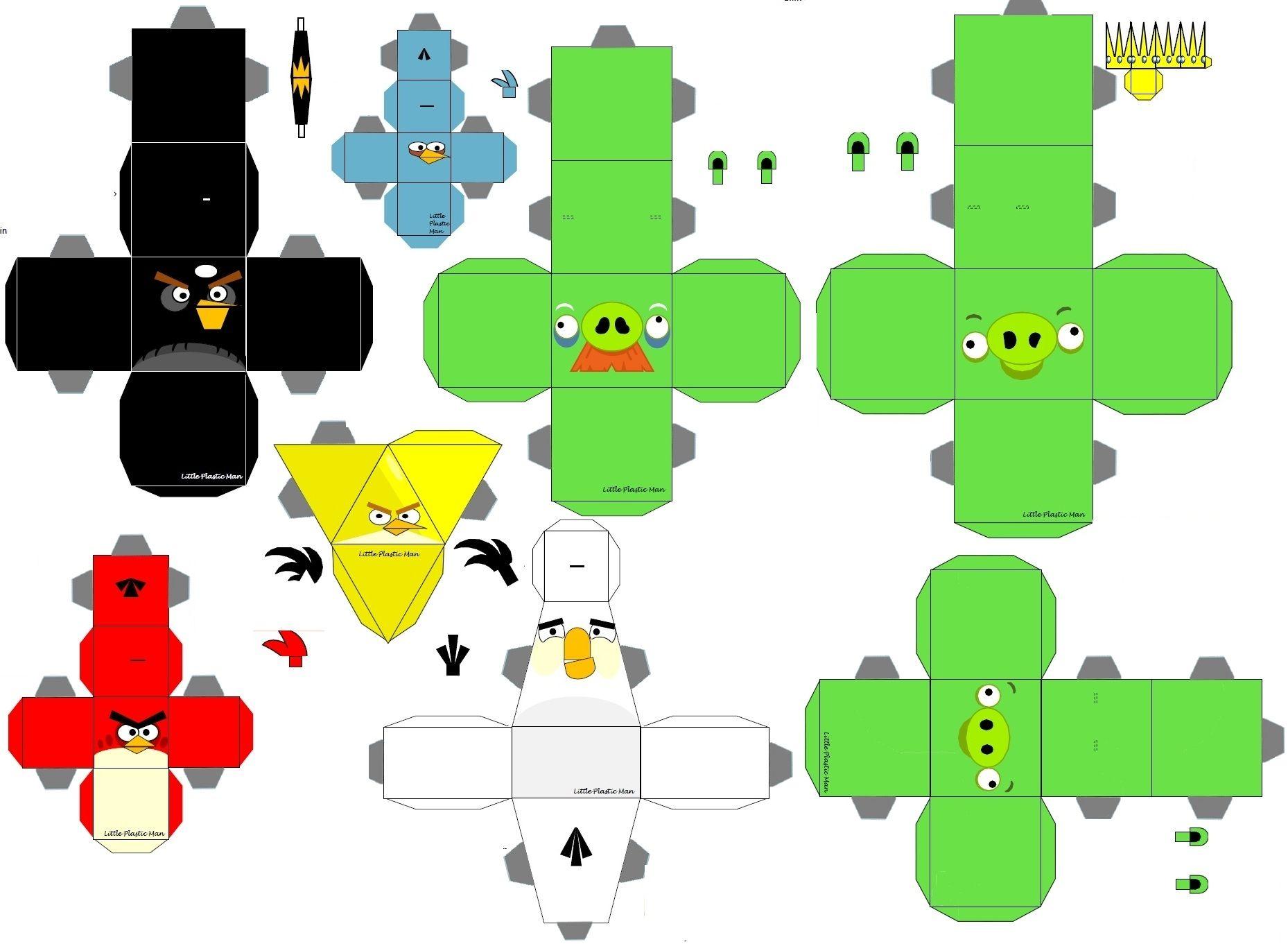 Papercrafts de Mario Bros y de Angry Birds [Para Imprimir] - Taringa!