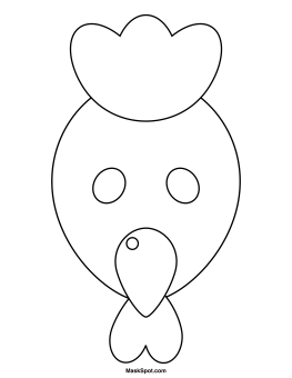 Chicken Mask To Color Animal Face Masks Printable Cow Free