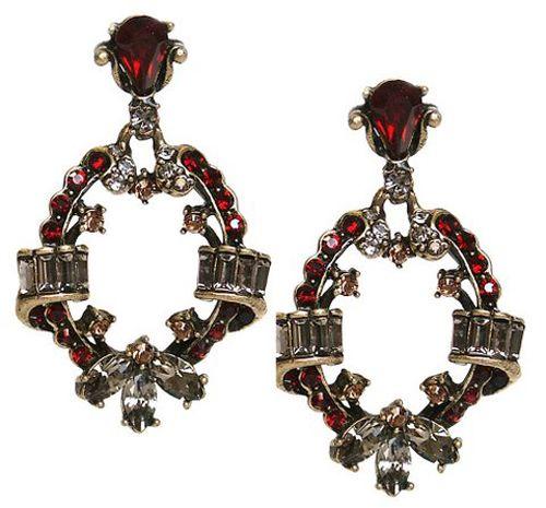 Jewelry by Sweet Romance Penelope Round Garnet Earrings
