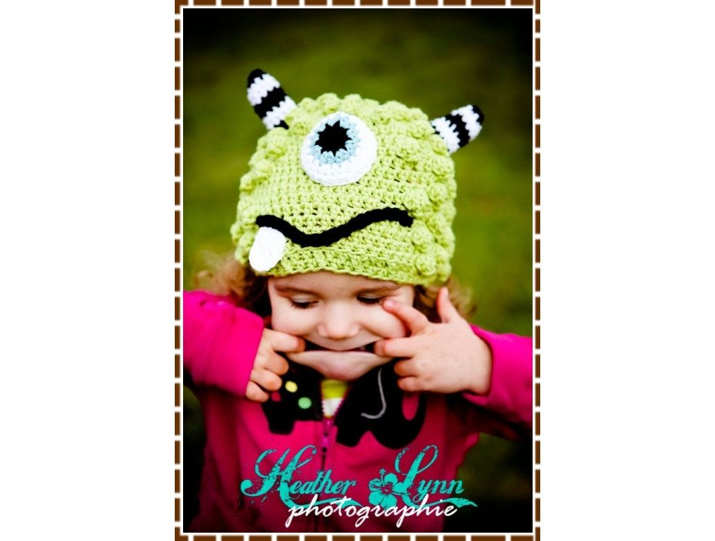 Monster Hat Crochet Pattern - BRONSTER & MISSY - 104 --- Permission ...