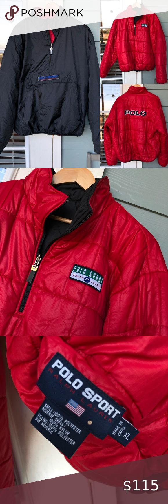 Polo Sport Reversible Puffer Coat Jacket Xl Puffer Coat Coats Jackets Jackets [ 1740 x 580 Pixel ]