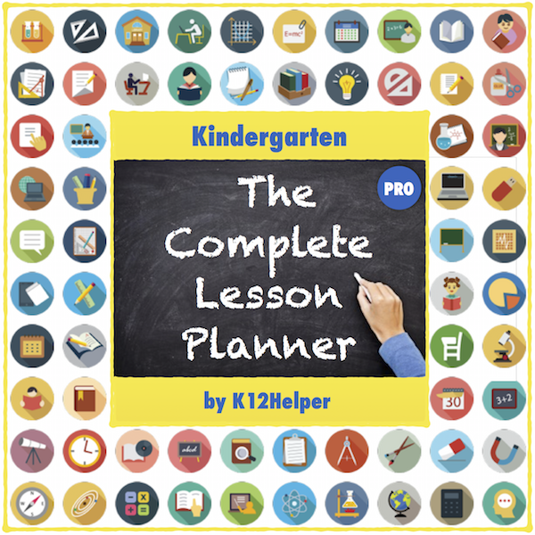 Free Kindergarten Lesson Plans Template All Subjects W Dropdown