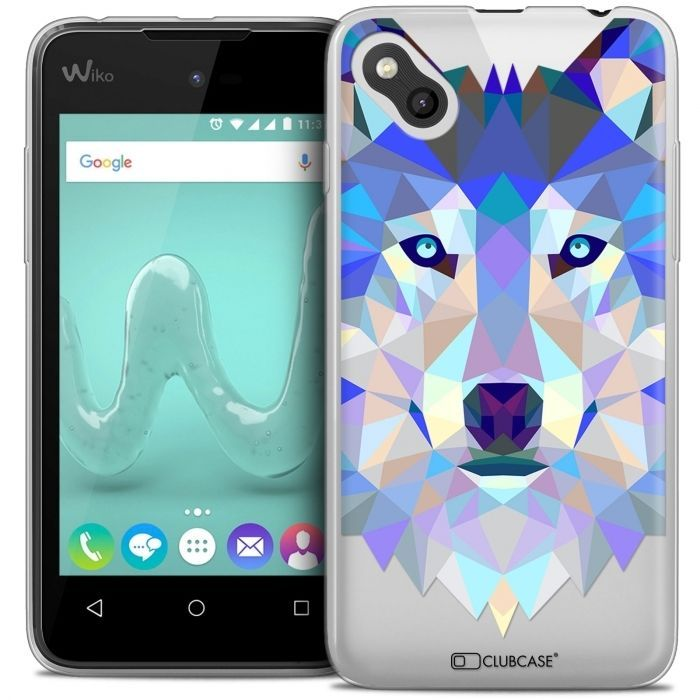 coque housse etui wiko sunny polygon animal souple fin