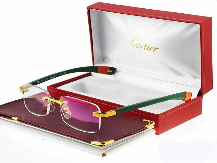 Cartier 303119 Gold And Green Frame Glasses, www ...