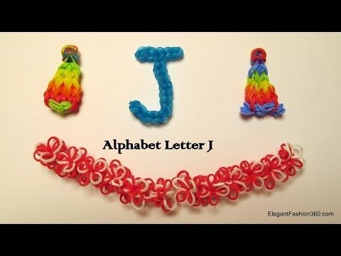▶ How to make alphabet letter J charm on rainbow loom - YouTube