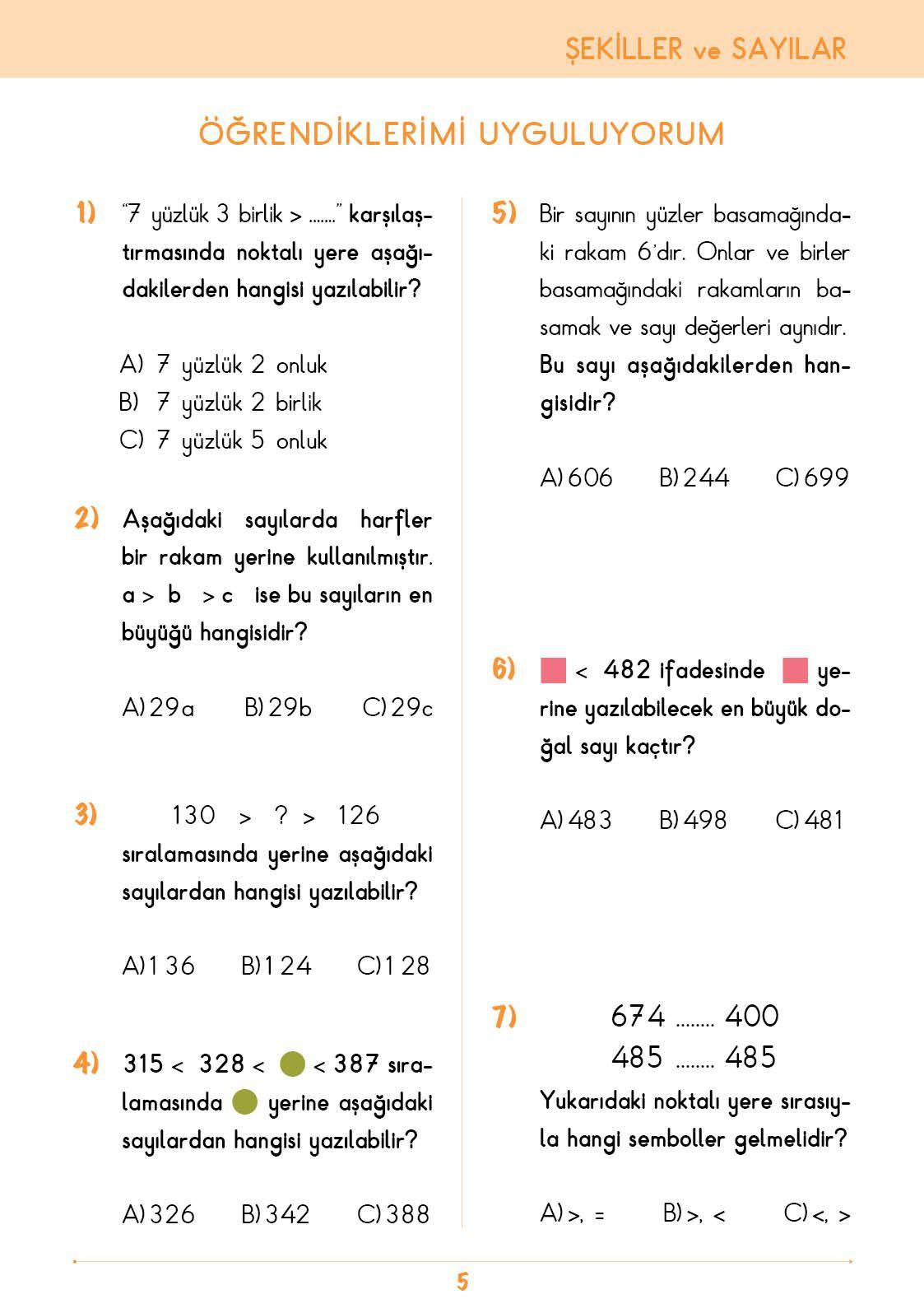 3 Sinif Konu Anlatim Matematik Bilgi Kutusu Matematik Ogretim