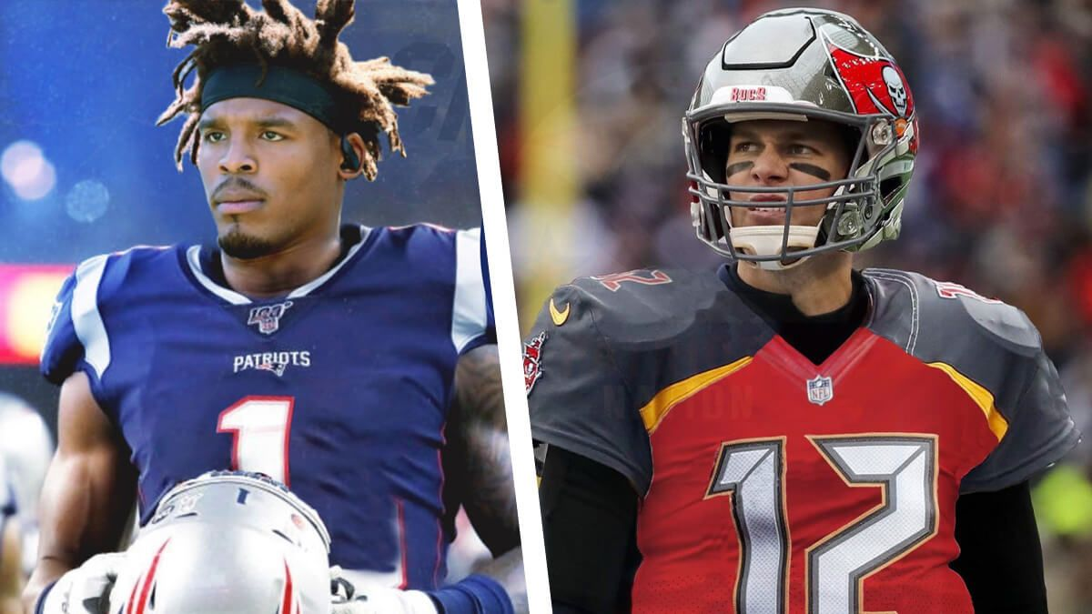Who Will Have The Better Season Cam Newton Or Tom Brady In 2020 Cam Newton Tom Brady Head To Head Football