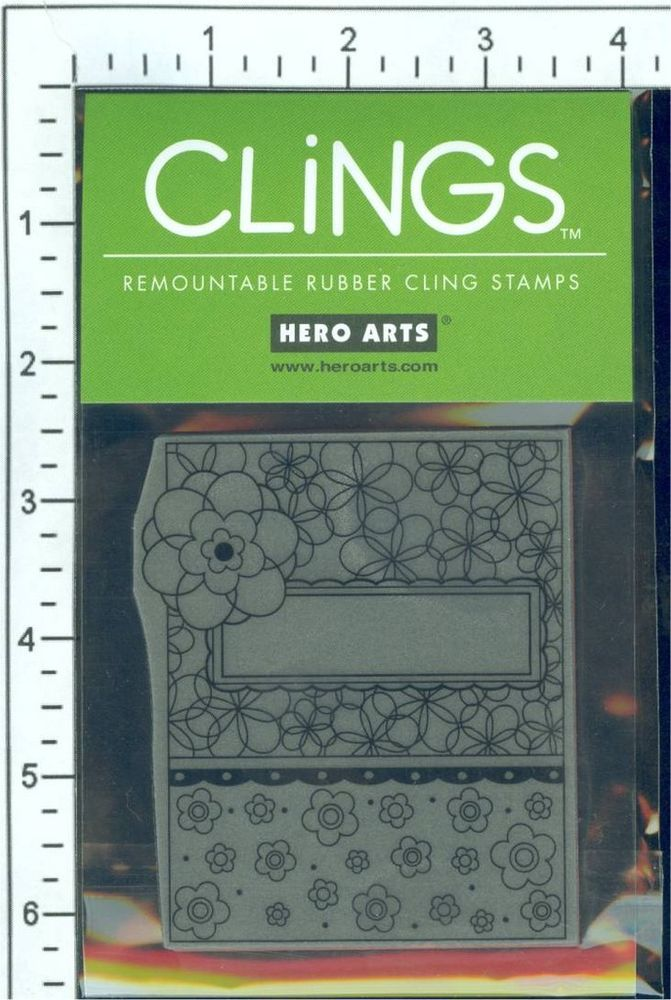 Hero Arts' Clings Flower Patterns rubber stamp - new