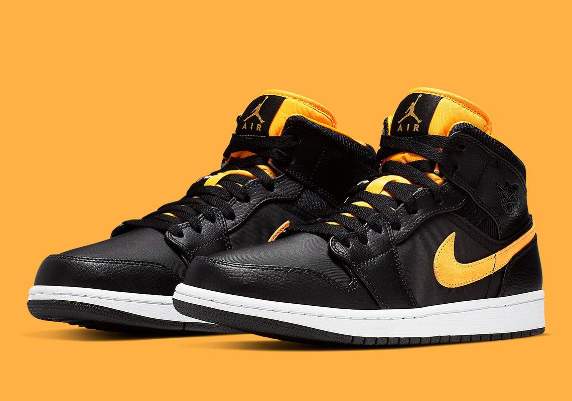 new styles f04da d4e43 Jordan 1 Mid Black University Gold CI9352-001 Release Info   SneakerNews.com
