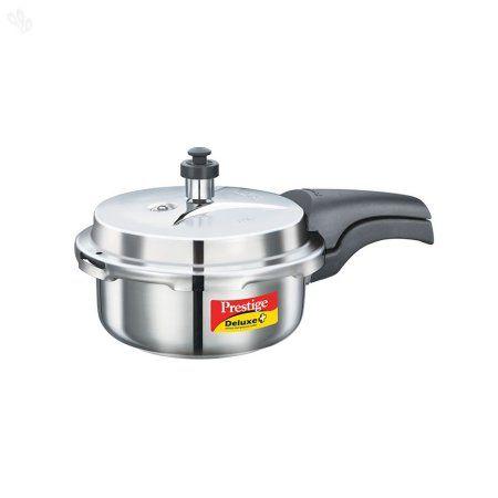 Prestige 2L Alpha Deluxe Induction Base Stainless Steel Pressure Cooker, 2.0-Liter