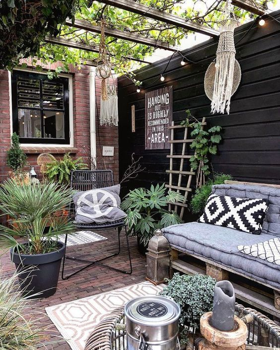 40 Brillantes Patio-Design - Haus How to Crafts #patiodesign
