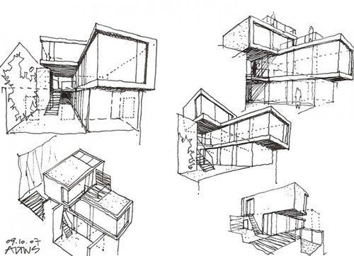 Modern Architecture Drawing modern architecture sketch | modern architecture sketches
