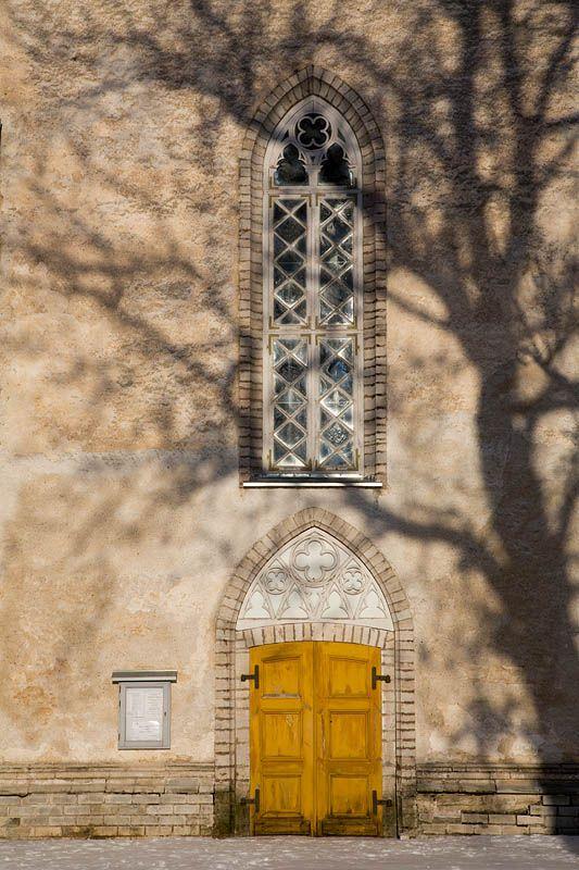 Nissi church door, Estonia