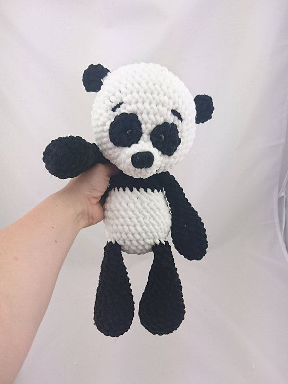 Pdf Crochet Pattern English Paul Panda Amigurumi Häkeln
