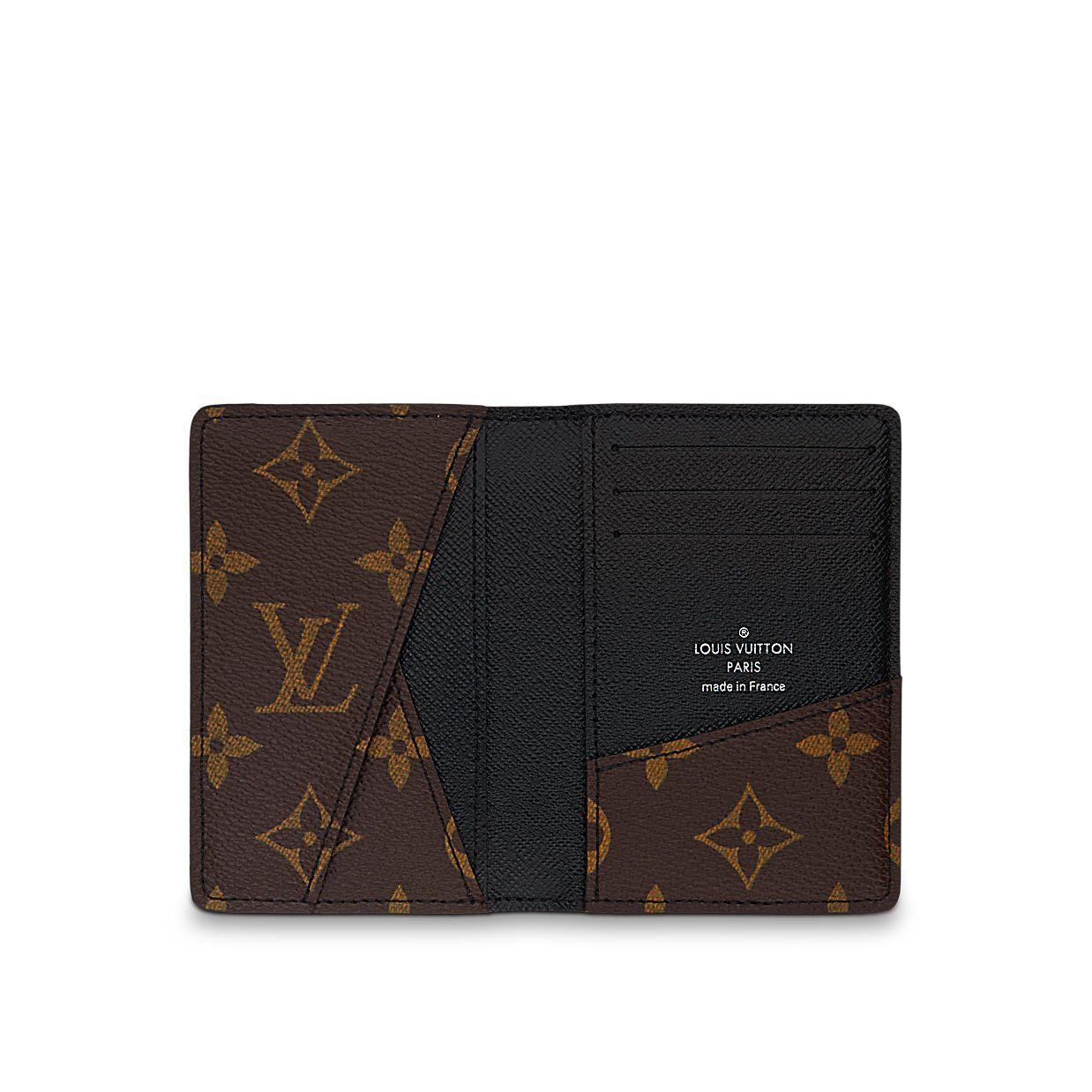 c81cee6a4eaf3 Discover Louis Vuitton Pocket Organiser  In elegant Monogram Macassar  canvas