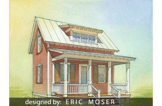 Designed By Eric Moser This compact 1.5 story plans includes a ...