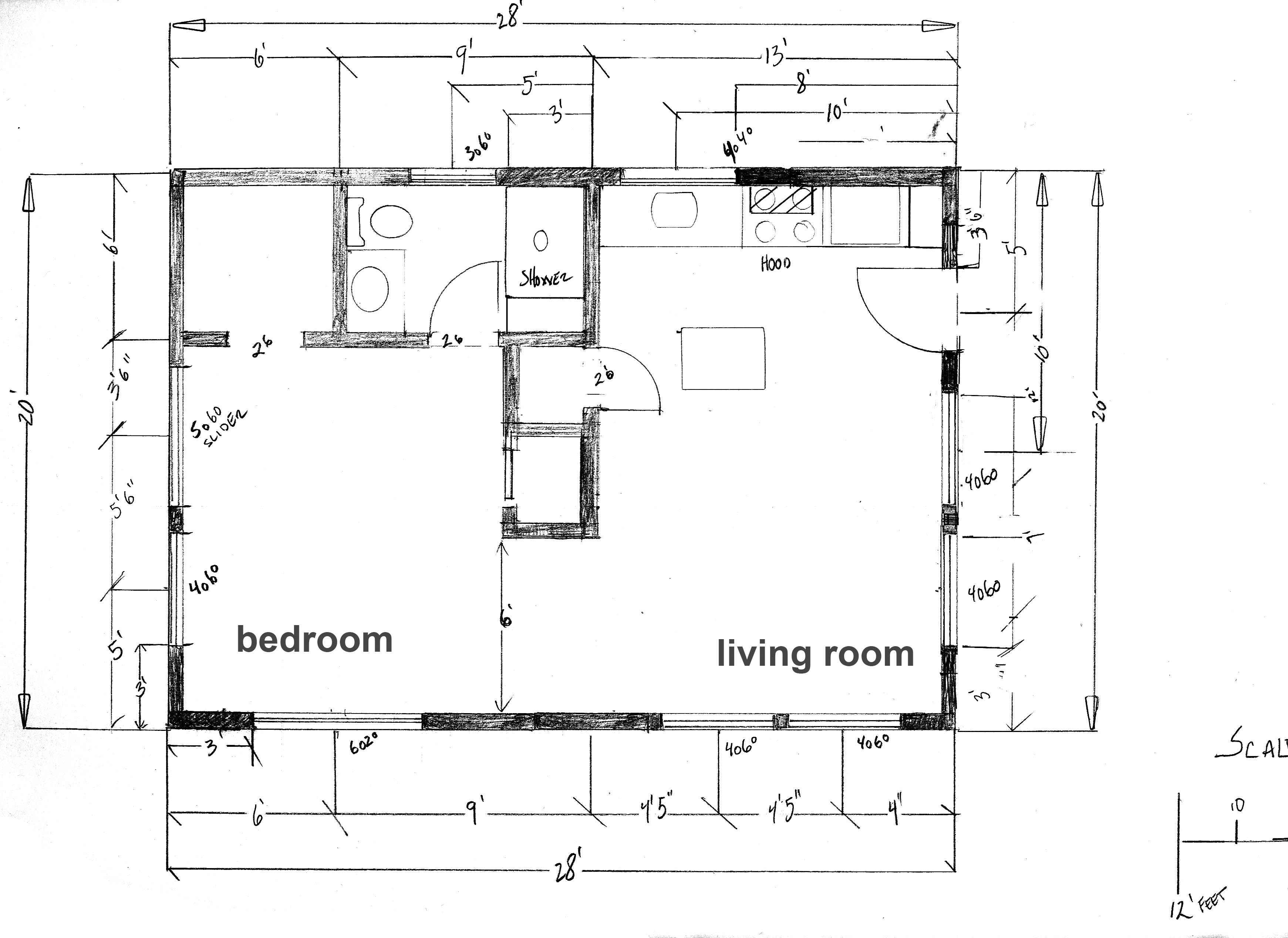 Tiny house floor plans floor plan cabin at the beach under 600 square