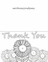 graphic regarding Printable Thank You Cards to Color known as Printable Thank Your self Playing cards in the direction of Shade - FamilyFunColoring