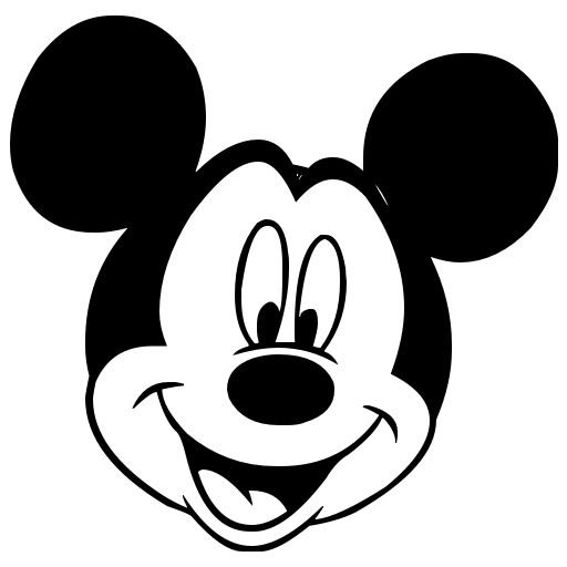 mickey mouse black and white mickey mouse 9 512 jpg disney vinyl rh pinterest ie mickey mouse head clipart download mickey head silhouette clip art