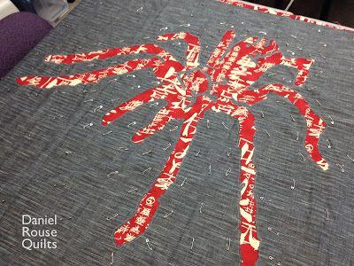 Piece and Press: Stencil Quilt Workshop  (Daniel Rouse Quilts - spider - pretty epic!)