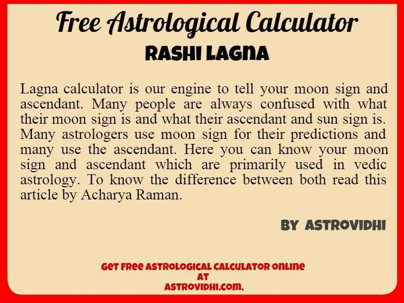 Vedic Astrology Free Yoga Calculator