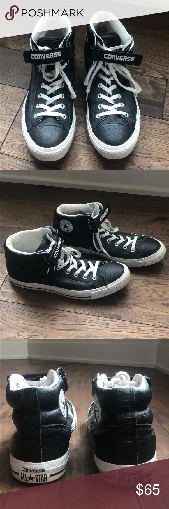 black velcro converse