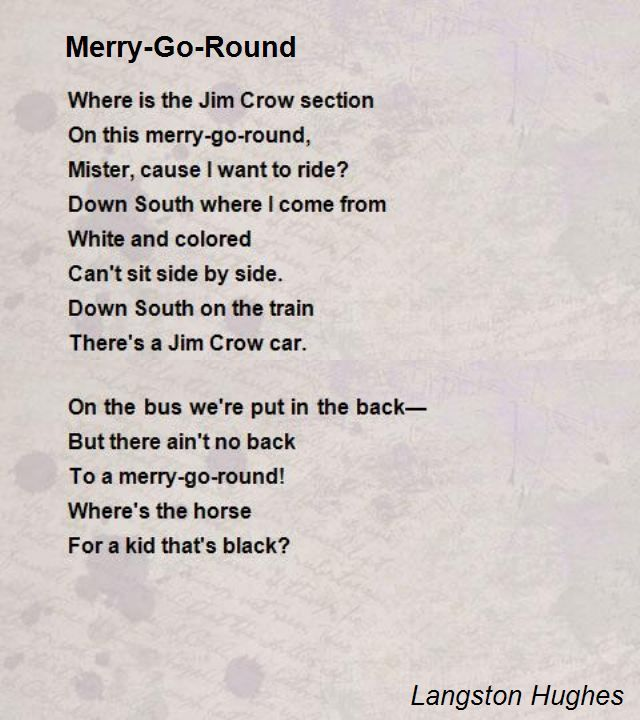 Merry Go Round Poem By Langston Hughes Poem Hunter