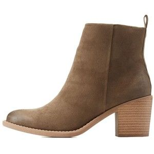 Charlotte Russe  Stacked Heel Ankle Booties