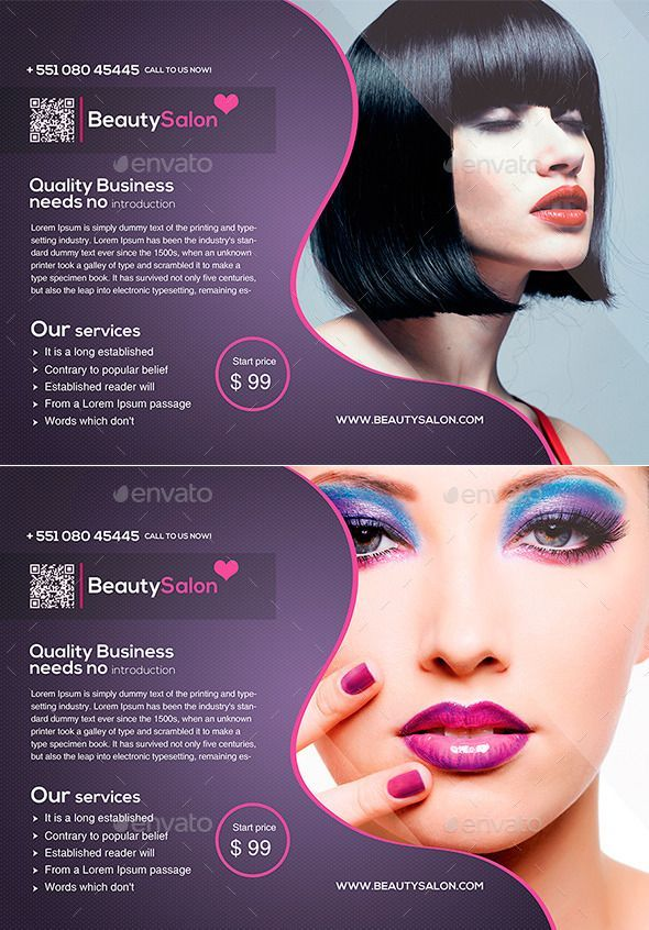 Buy Beauty Salon Flyer By CreativeIdeasLab On GraphicRiver This Template Is Perfect For Any Company That Needs A Clean And Modern