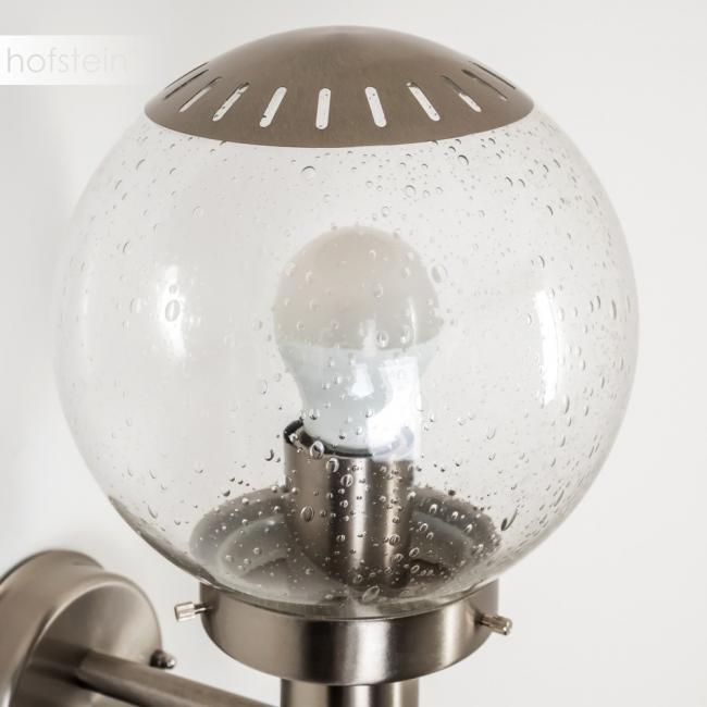 Globo Bowle Ii Lámpara Para Exterior Acero Inoxidable Transparente Claro H3005927 Lámparas Para Exteriores Lámpara Transparente