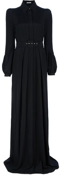 Givenchy - Black Long Belted Shirt Dress - Lyst
