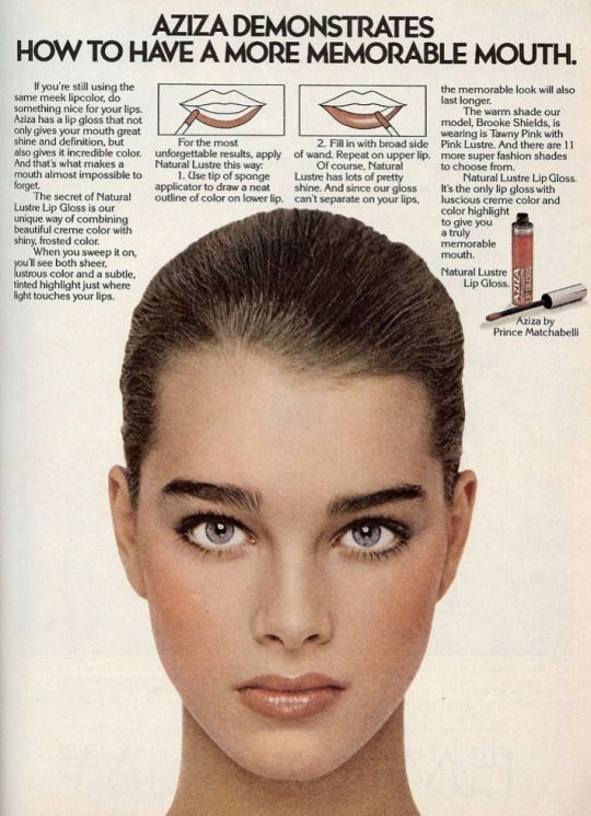 Vintage Ad Brooke Shields For Aziza 1979 Vintage Makeup Ads Aziza Makeup Makeup Ads