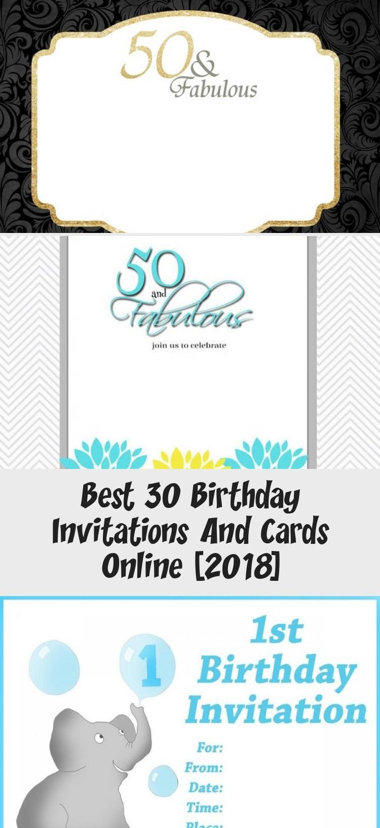 Best 30 Birthday Invitations And Cards Online 2018 In 2020 30th