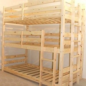 Wunderbar 3 Tier Triple Bunkbed With THREE Mattresses 3ft
