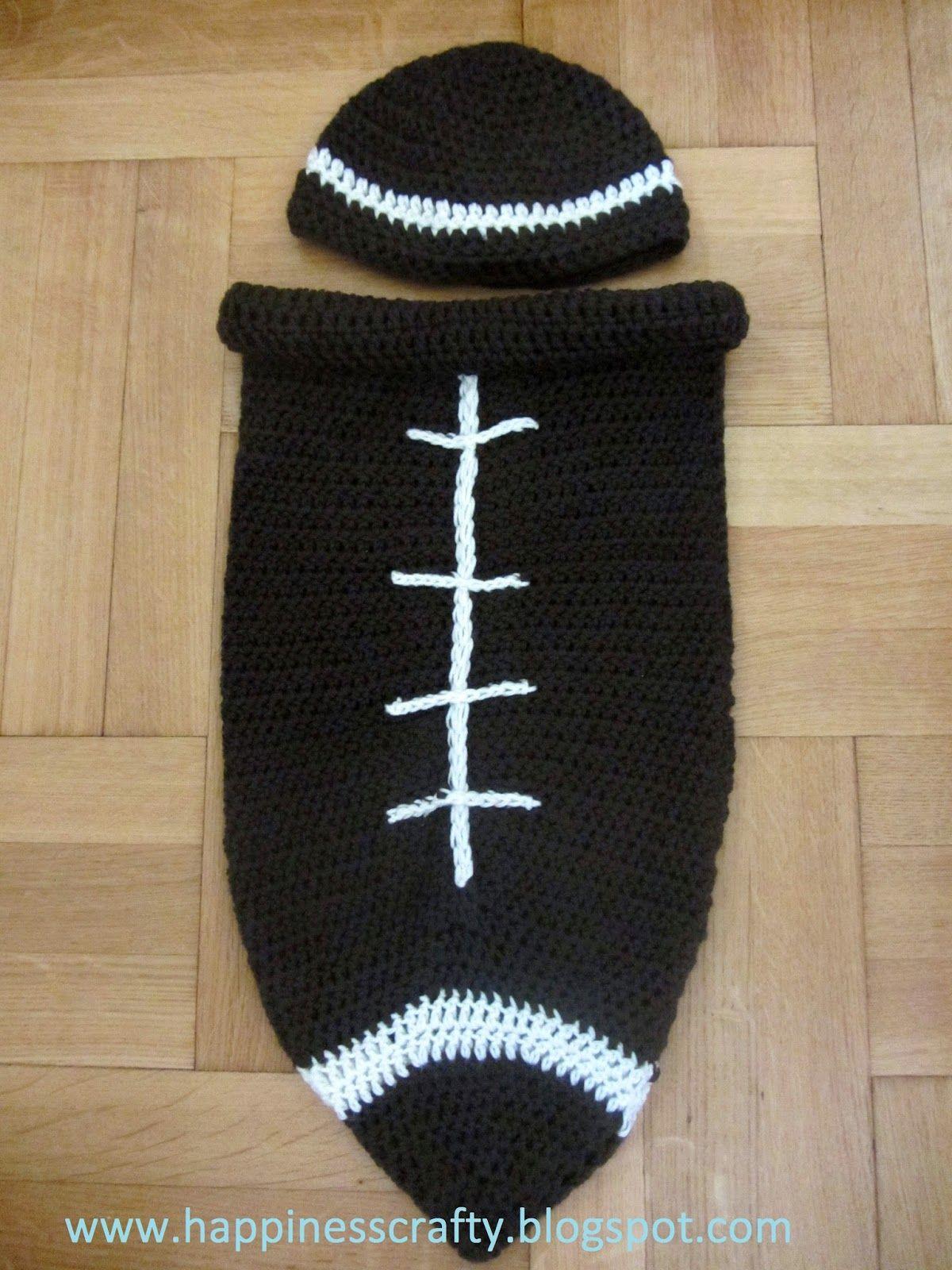 Happiness Crafty: Crochet Newborn Football Cocoon ~ Free Pattern ...