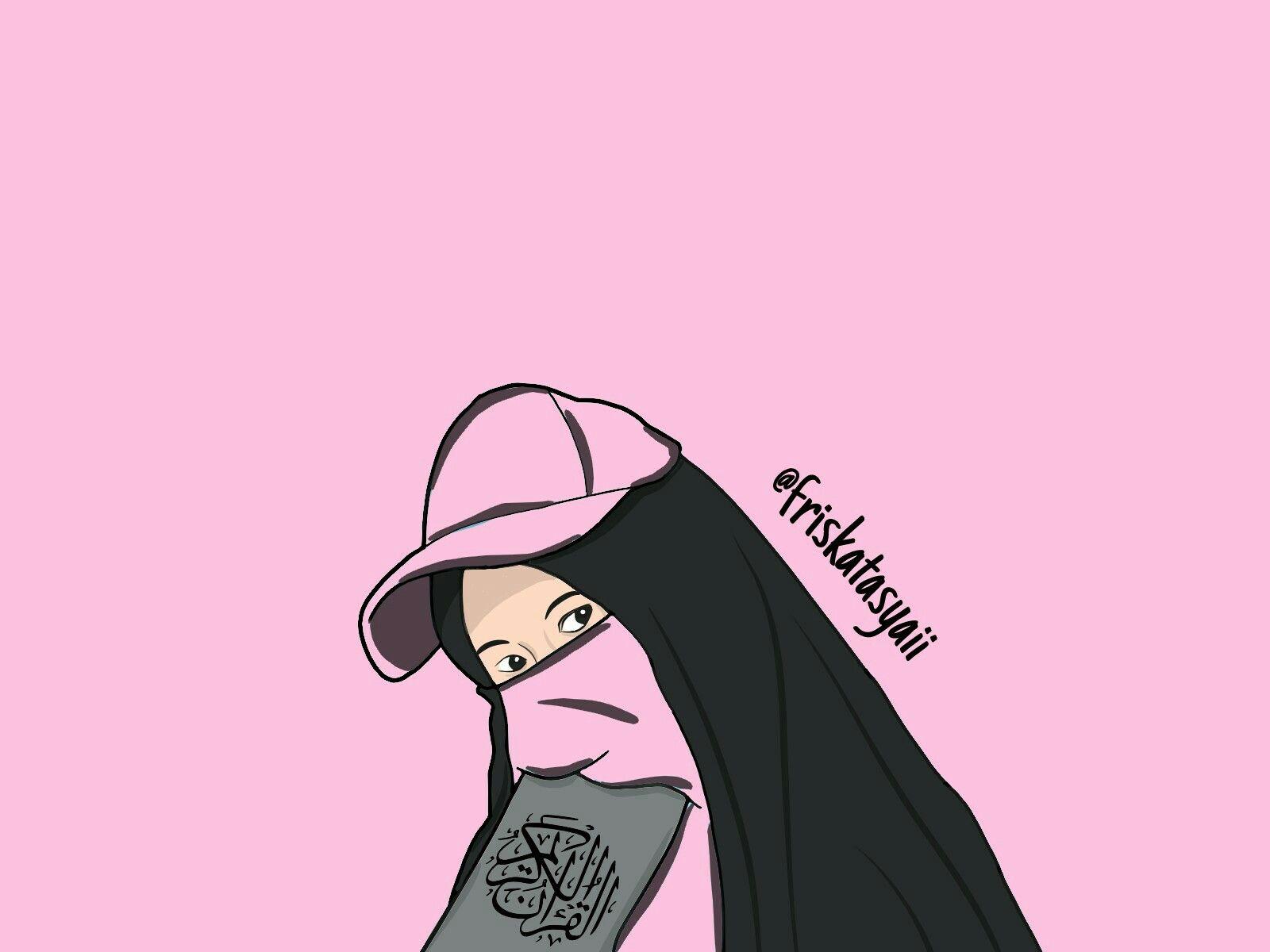 Foto Muslimah Bercadar Niqob Yaman Indah Frt Kartun Muslim
