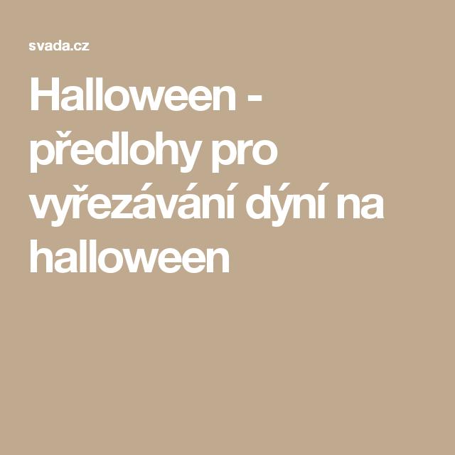 Halloween - předlohy pro vyřezávání dýní na halloween
