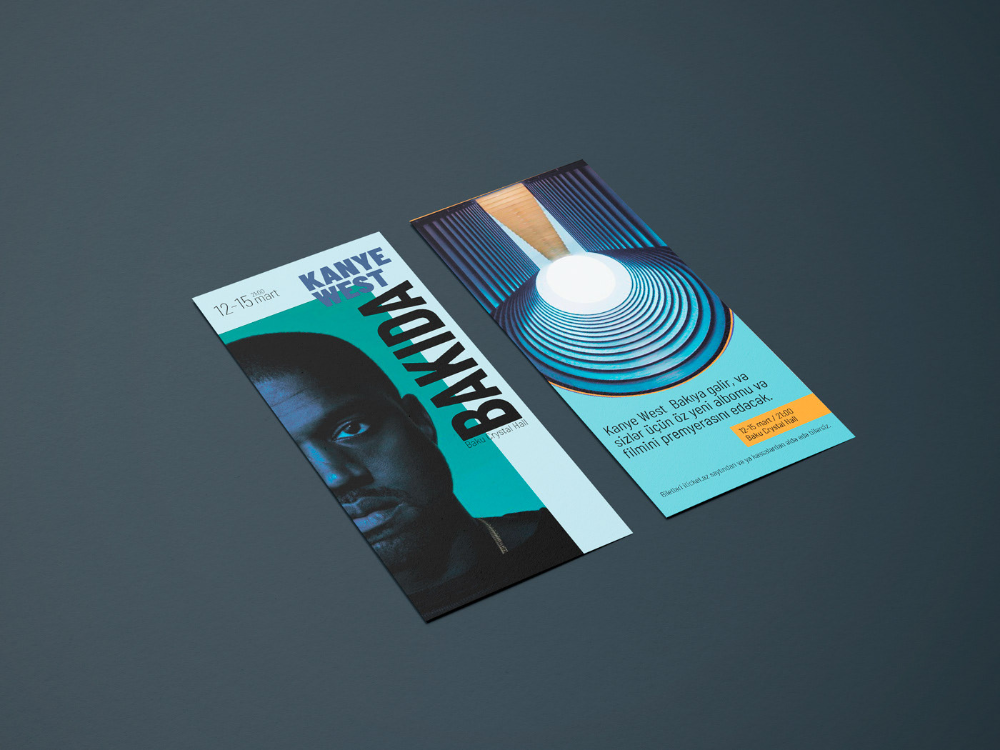 Kanye West In Baku Leaflet On Behance Kanye West Kanye Leaflet