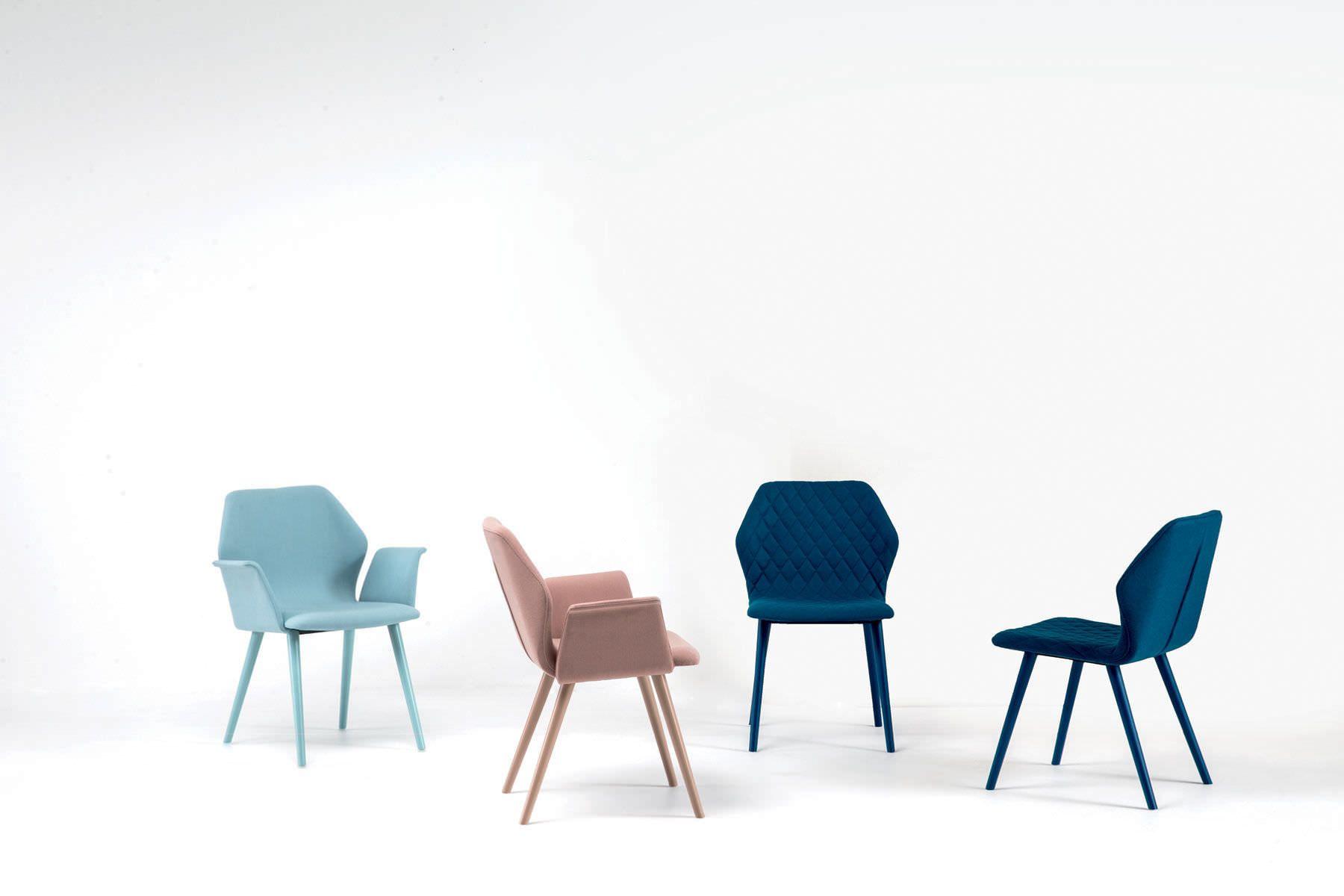 Chaise Contemporaine Avec Accoudoirs En Tissu En Cuir Ava By Michael Schmidt Bross Dining Chairs Contemporary Dining Chair Design Contemporary Chairs