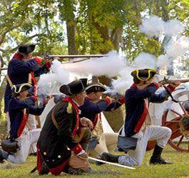 Revolutionary War Reenactment at Fort McAllister Historic