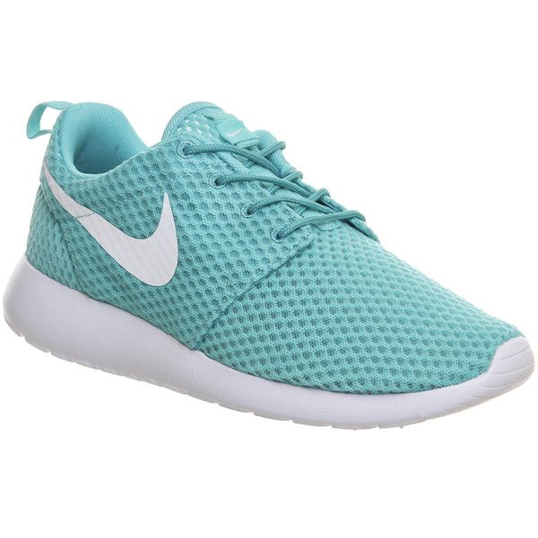 cheaper 079d1 ad457 Nike Roshe Run (38) ❤ liked on Polyvore featuring shoes, nike, sneakers,  tennis shoes, trainers, calypso white br, unisex sports, white shoes, ...