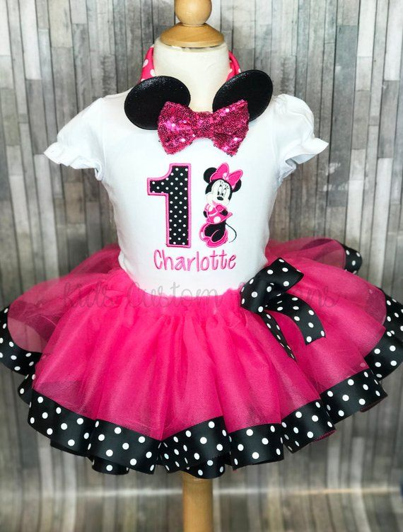 Current Processing Time Is 3 Weeks With Standard Shipping If You Do Need It Sooner Minnie Mouse Birthday Outfit Baby Girl Birthday Outfit Minnie Tutu Outfit