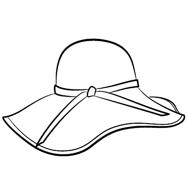 Floppy Hat Coloring Pages Coloring Sun Hat Template Fancy Hats Coloring Pages