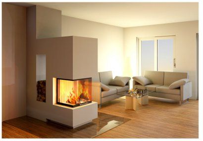 3 seitig von kamin sievers fireplace in the living room. Black Bedroom Furniture Sets. Home Design Ideas