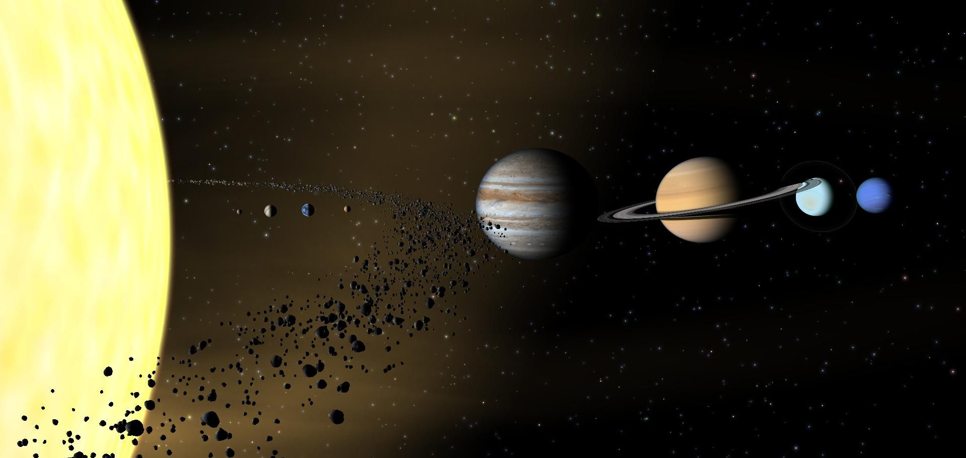 solar system with asteroid belt projects - photo #45