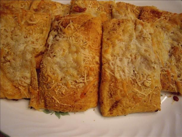 Great Caesars Toast. Photo by Ruby15 My mother used to make this.  She would use the triangles  from Crescent rolls. Very yummy with soup, salad, pesto, olive spread, etc