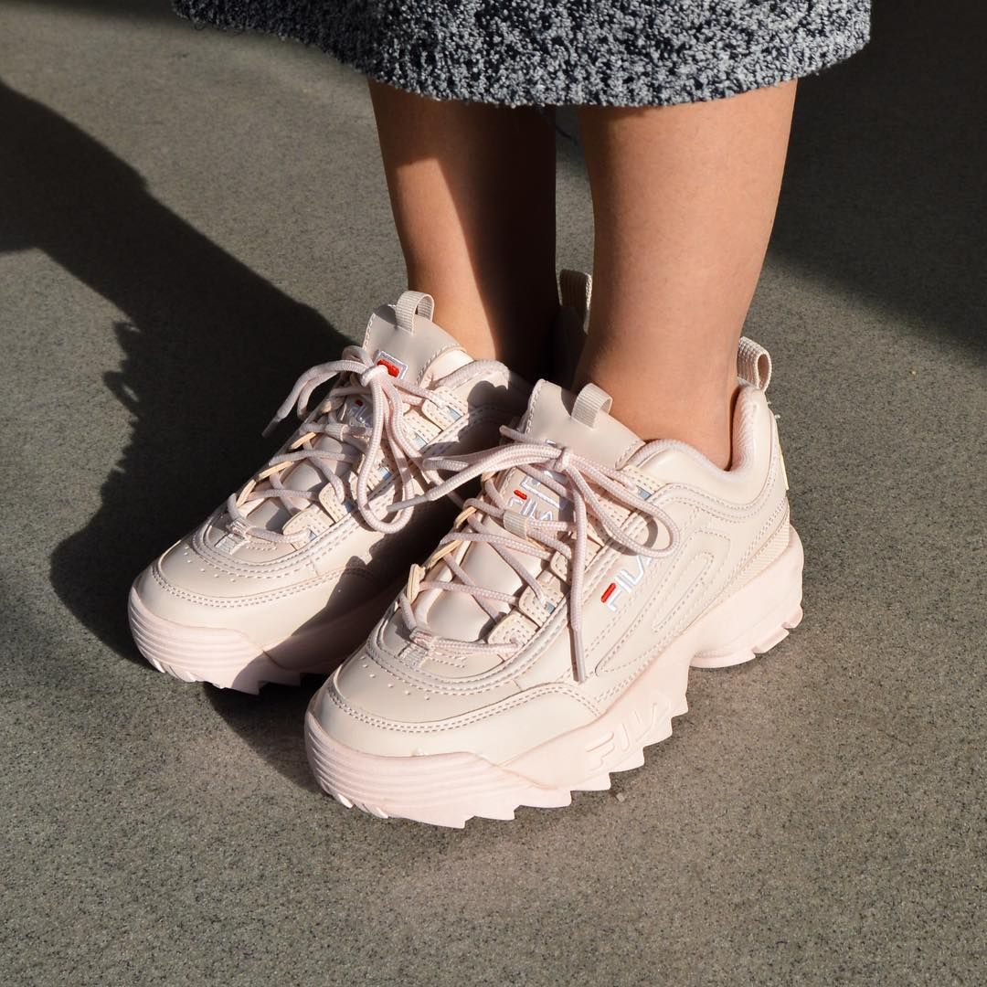 Babies back! The Disruptor Low by Fila in Peach Whip is that